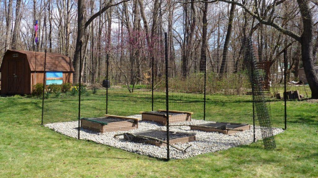 Deer Free 100 Plus fencing around garden